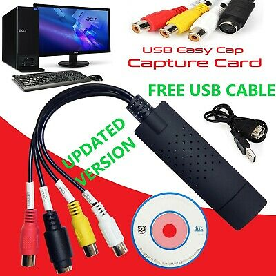Easycap Capture Card Adapter USB 2.0 Audio Video VHS to TV Tuner DVD Converter