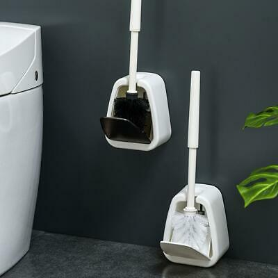Auto Close Toilet Brush Holder Wall-Mounted Floor-Standing WC Bathroom Cleaning