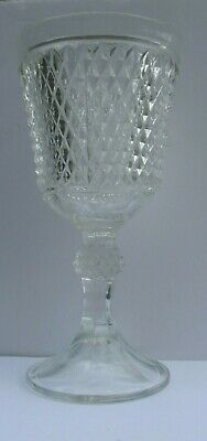 "Vintage Jar / Vase Clear Pressed Glass Footed Heavy and Large 11"" Tall"