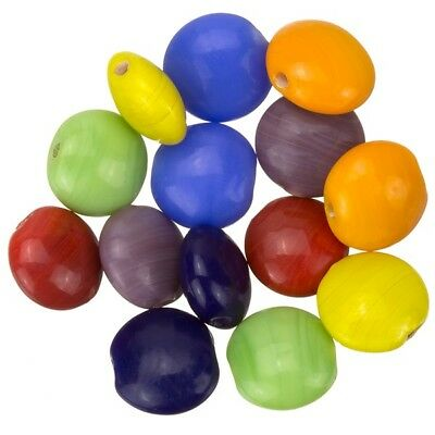 A88//4 Shiny Disc Shape Smartie Lilac Glass Beads 12x6mm Pack of 10