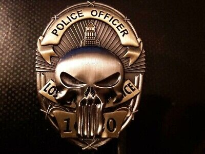 RARE 3 D Los Angeles Police Department LAPD Punisher 2 Tone Challenge Coin LEO