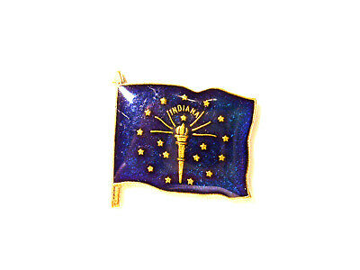 Indiana State Flag Vintage Pin