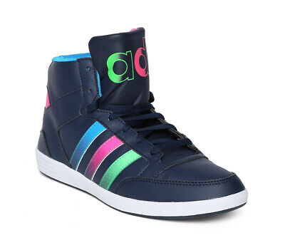 ADIDAS NEO WOMEN'S Hoops Street Hi Top Trainers Casual Shoes