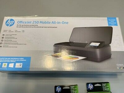 NEW HP OfficeJet 250 All-in-One Portable Printer w/Wireless Printing CZ992A