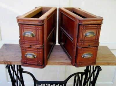 Antique Singer Sewing Machine Ornate Drawers With Frames