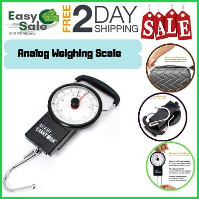 Ess Analog Weighing Compact Handy Luggage Scale Accurate Portable Durable Hook