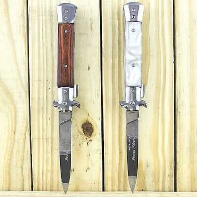 """2 Pc Tac-Force 9"""" Stiletto Milano Tactical Spring Assisted Folding Pocket Knife"""