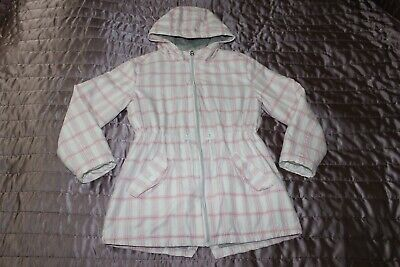 ( REF 3) NEXT Pink Cotton blend Girls' Ligthtly Padded Hooded Coat  Age 9 Years