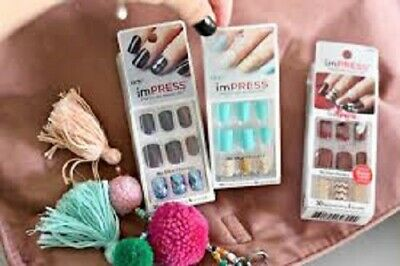 imPress Kiss press-on nails, manicure choose your designs! B2GO!! You Choose!