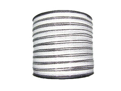 200m POLY TAPE ELECTRIC FENCE 12mm 5 Strand - Kit Stainless Steel Reel Wire New