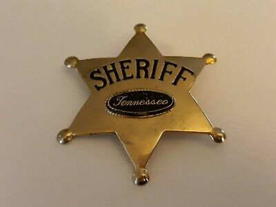 Sheriff Badge Tennessee SOLID METAL