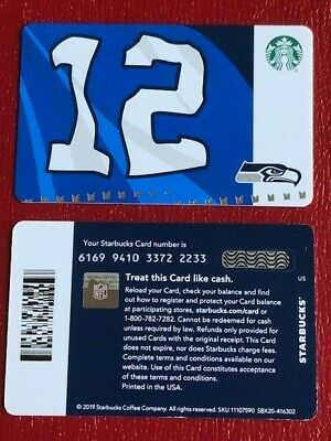Starbucks Card 2019 SEATTLE SEAHAWKS 12th Man w/ NFL Hologram - NEW Unused MINT