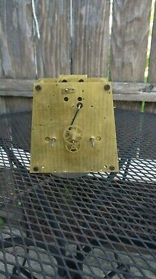 seth thomas  large brass weight driven ,time/strike  parts /project