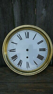 vintage reproduction large jewelers regulator wall clock dial parts/project