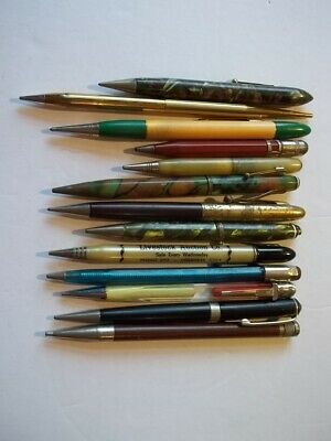 Lot Of 13 Vintage Old Mechanical Pencils Some Advertising-Bakelite-Etc. #8