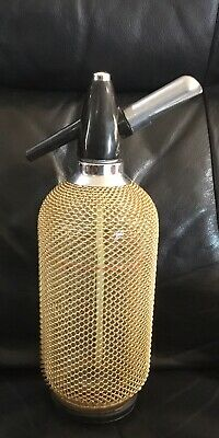 soda syphon. Beautiful Gold Mesh. Age Unknown