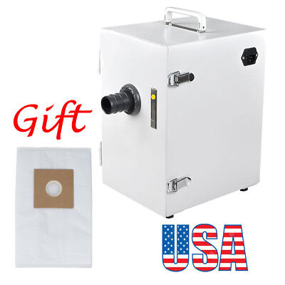 USA! 370W Dental Digital Single-Row Dust Collector Vacuum Cleaner Extra Dust Bag