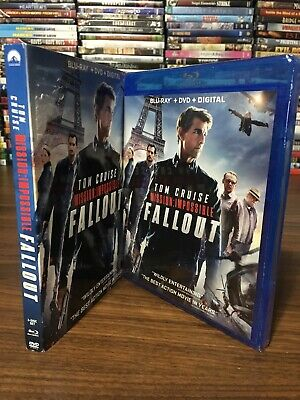 MISSION: IMPOSSIBLE - FALLOUT (Blu-ray + DVD + Digital) NEW