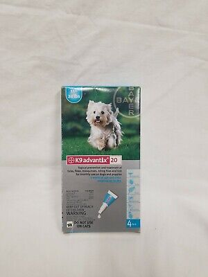 K9 Advantix 20 for Medium Dogs 11-20 lbs - 4 Pack - FREE Shipping