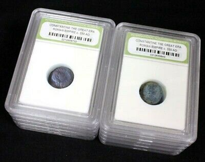 10 Slabbed Ancient Roman Constantine the Great Coins Nice Quality c 330 AD a3