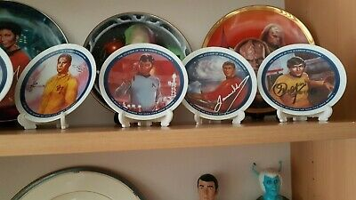 Star Trek Mini Plates Set Of 9 With 4 Hand Signed By Doohan Koenig Nichols Takei
