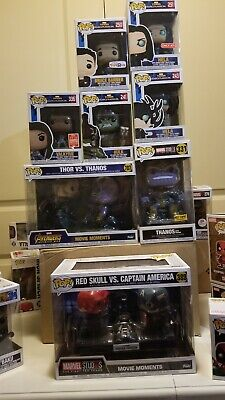 Marvel funko pop lot exclusive convention Avengers iron  man Black panther 42