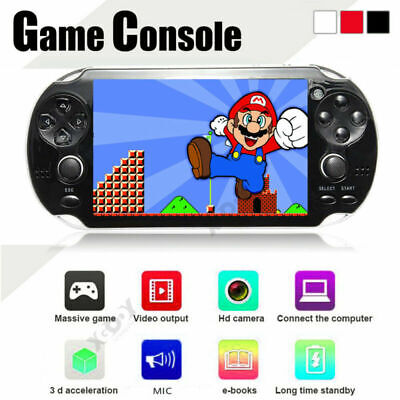 32 Bit 8GB 5.1'' Portable Built-In Free Games Handheld Console Player Black UK