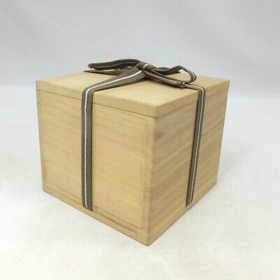 D117: Japanese wooden storage box for tea bowl made from KIRI. SHIHO-SAN 1
