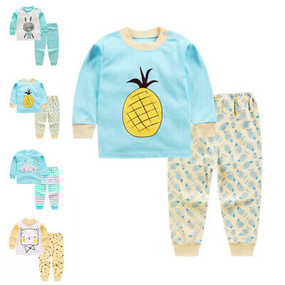 Pajama Set Kids Toddler Girls Cute Soft Comfy Long Clothes Cotton Stylish Outfit