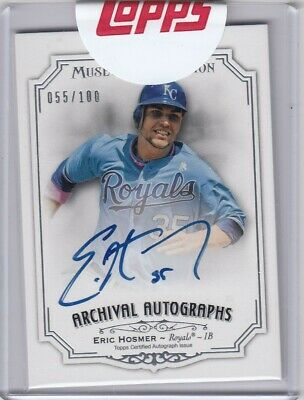 2012 Topps Museum Collection Eric Hosmer, Autographed Card 55/100