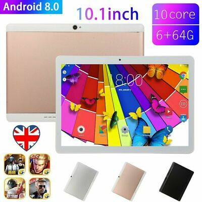 1x Dual Camera 10 Inch Tablet Android 8.0 6+64GB Tablet PC with Memory card Slot
