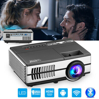 Smart Android Bluetooth WiFi LED Projector Home Theater Online Netflix HDMI USB