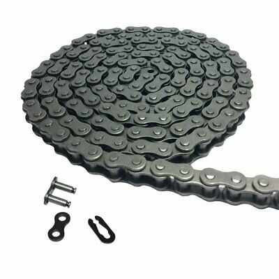 Heavy Duty Roller Chain with 1Connector Link for Go Kart Bike Garage Gate Chain