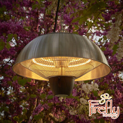Firefly 2kW Patio Heater Halogen Ceiling Mounted Hanging Electric Outdoor Heat