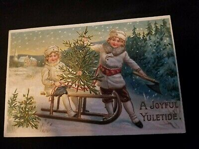 Vintage Antique Christmas Postcard from early 1900's