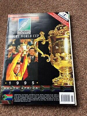 1995 South African rugby union World Cup official souvenir programme  VGC