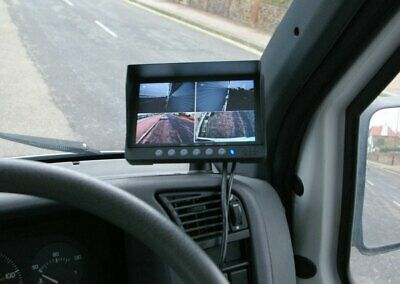 7 inch quad screen rearview monitor for reversing cameras