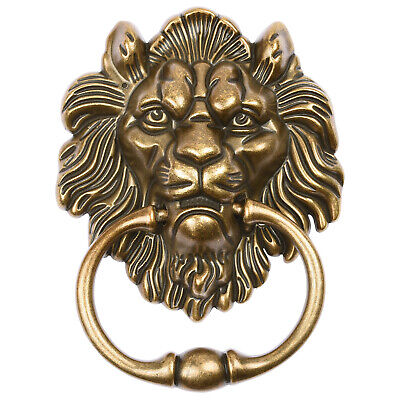 Hartleys Brass Drop Pull Ring Lion Head Dining Chair/Furniture Knocker Handle