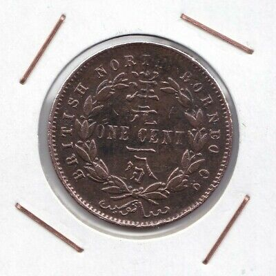 British North Borneo : 1 Cent 1891 H  ( rare )