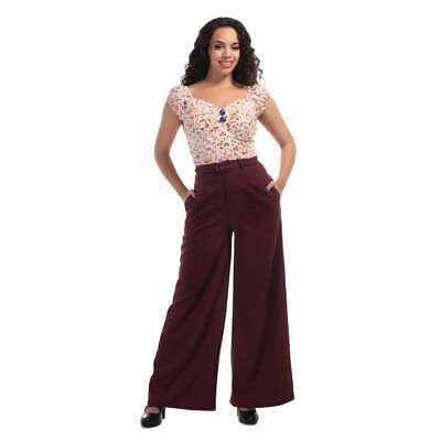 Collectif Mainline Vicky Crepe Trousers