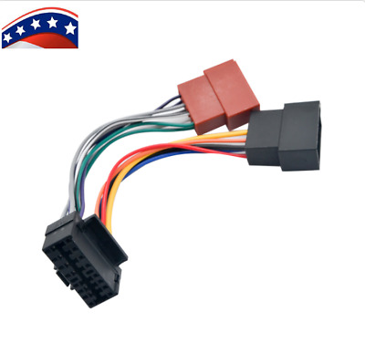 1 SET ISO Wiring Harness Connector Adaptor For Sony 16 Pin ... Iso Wiring Harness Connector Adaptor For Kenwood Pin on
