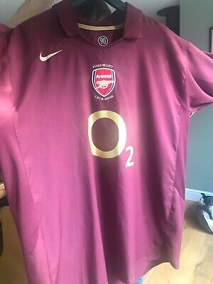 Arsenal Home Shirt 2005 / 2006 Mens size 2XL