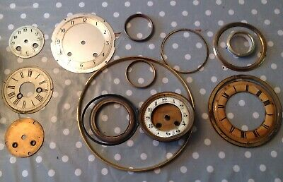 Antique Clock Bezels Faces Doors Frames Collection From Clockmakers Spare Parts