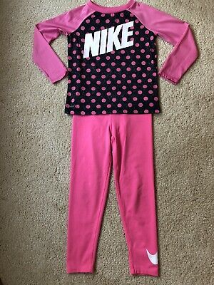 Nike Dri-Fit Little Girls Activewear Outfit Pink Size 6/6X