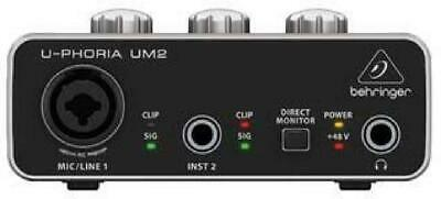 Computer Audio Interface 2x2 USB Audio Interface For Recording Mic & instruments