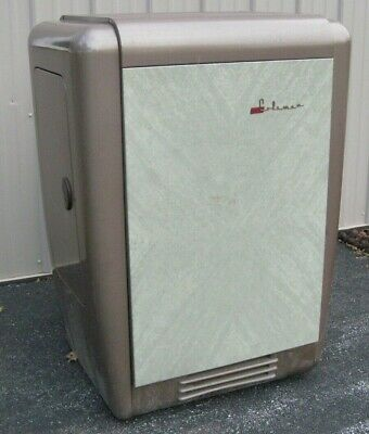 Coleman oil burning heater, floor model