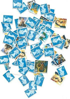 2nd class letter postage stamps x 100