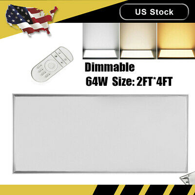 20PCS Dimmable Led Panel Light 64W 2FT*4FT Ceiling Suspended White Mounted Lamp