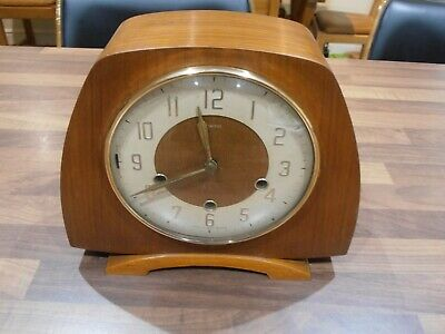 Vintage Smiths Chiming Mantel Clock with Balance wheel movement for service