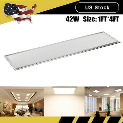 42W LED Panel Lights Ceiling Recessed Mounted Warm White Fixtures Room 1FT*4FT
